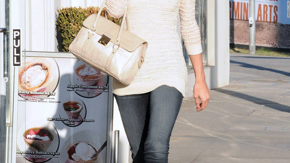 Paris Hilton strolls through Beverly Hills.