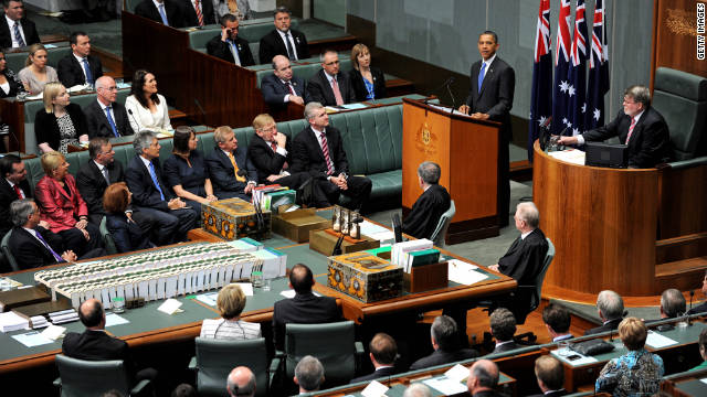 Obama clarifies U.S., Aussie military ties