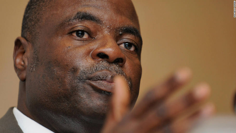 "In December 2010 Blatter insisted that FIFA was ""not corrupt ... there are no rotten eggs"" despite two of his executive committee members -- Amos Adamu, pictured, and Reynald Temarii -- being suspended for accepting bribes in the lead-up to the vote for awarding hosting rights for the 2018 and 2022 World Cups. He called England ""bad losers"" after losing out to Russia."