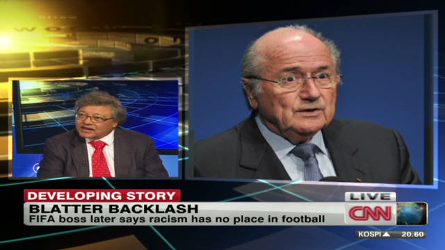 Blatter backlash over racism remarks