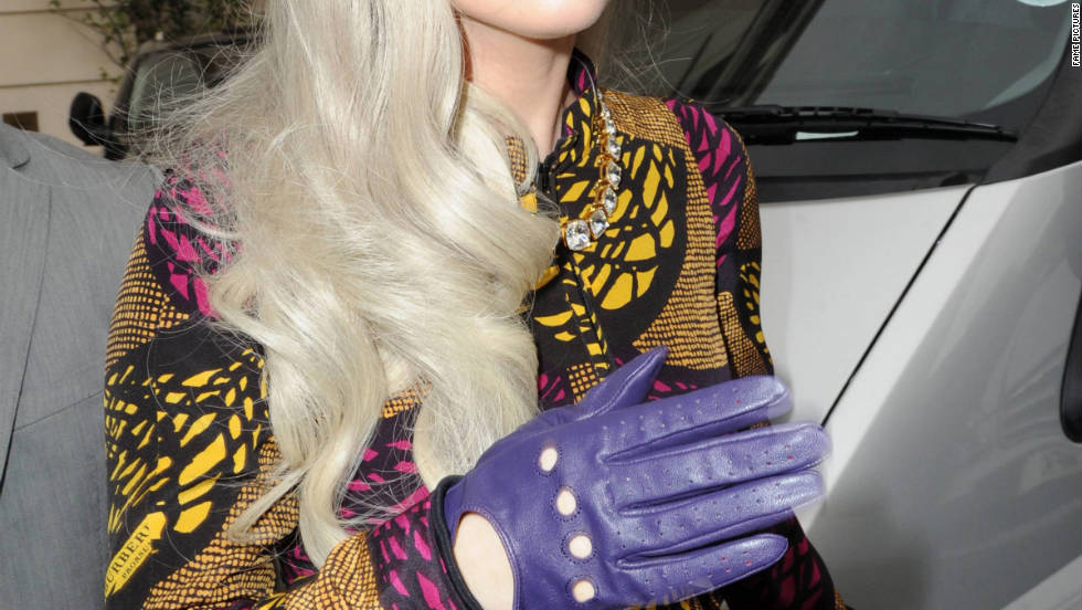 Lady Gaga heads to her hotel in London.