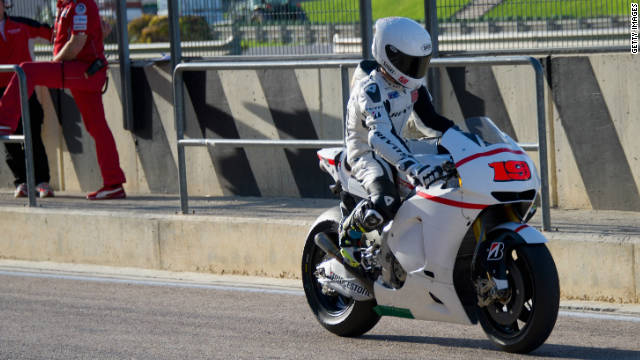 Alvaro Bautista is already testing his new Honda MotoGP bike after leaving the Suzuki team.