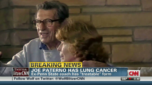 Paterno diagnosed with lung cancer