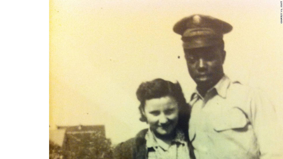 Cain now works as a search consultant to help other 'brown babies' find their biological families. One of Cain's current open search cases involves a woman who is searching for her father. Eddie Thomas is believed to have been from New York or Baltimore, and is pictured here in 1954 in Mannheim, Germany with the client's mother, Irmgard Dieter-Thomas.