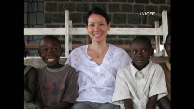 Lucy Liu helps impoverished children