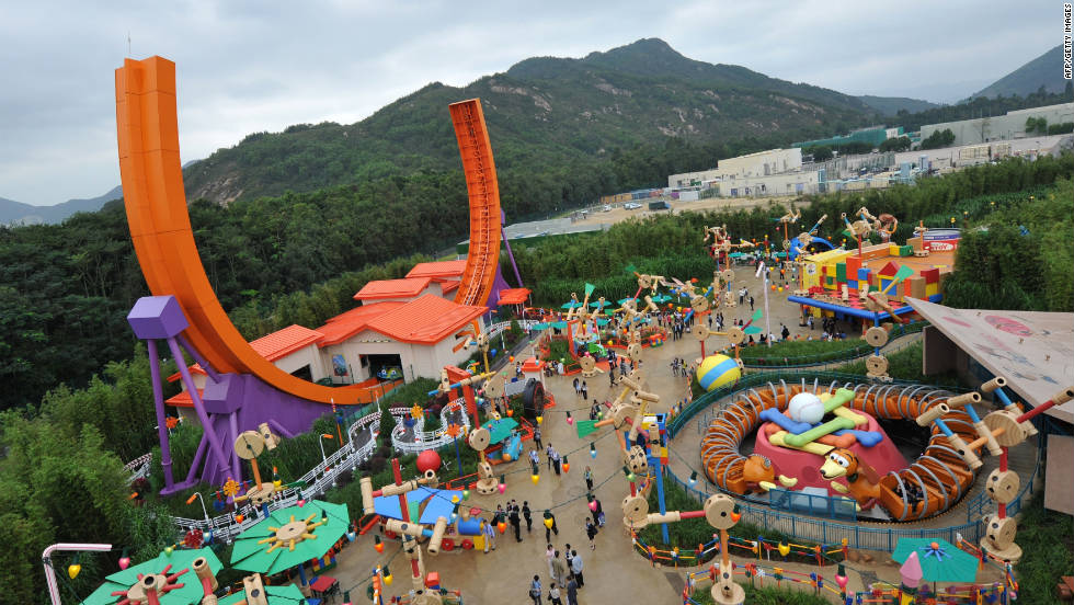 13. Toy Story Land is one of the star attractions at Hong Kong Disneyland.