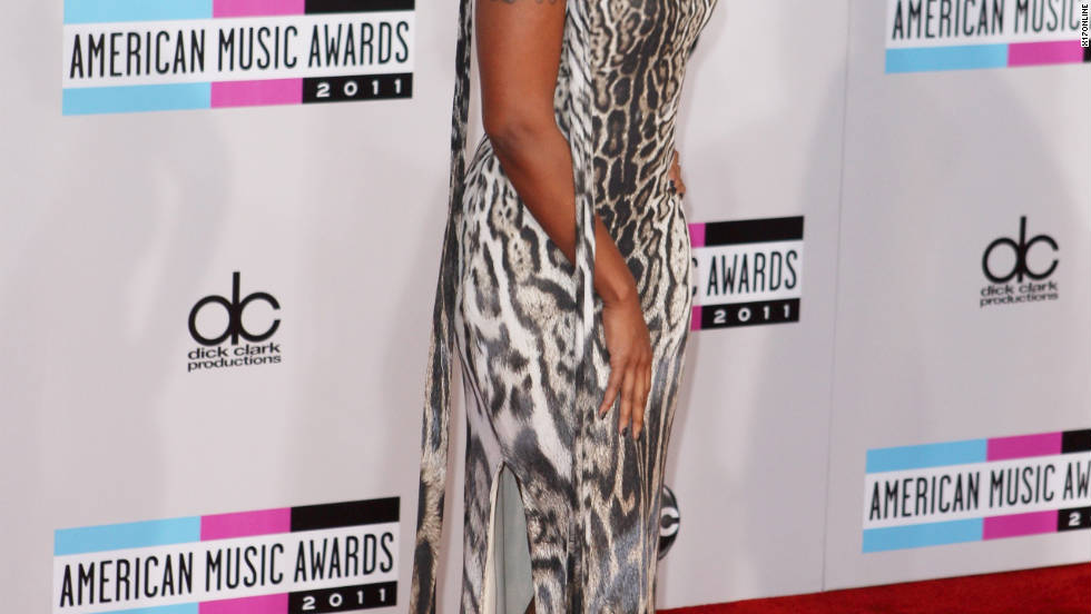 Mary J. Blige attends the American Music Awards in Los Angeles.