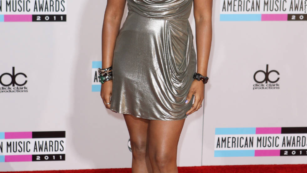 Jennifer Hudson attends the American Music Awards in Los Angeles.