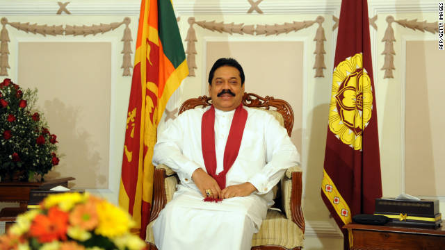 Sir Lankian President Mahinda Rajapaksa has received a 400-page response to U.N. allegations that the country committed war crimes.