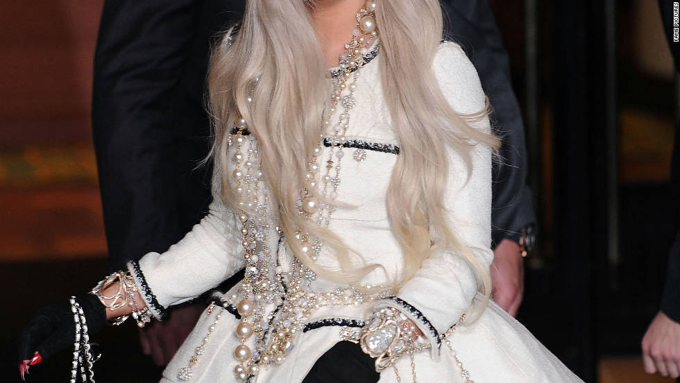 Lady Gaga attends a ribbon-cutting ceremony in New York City.