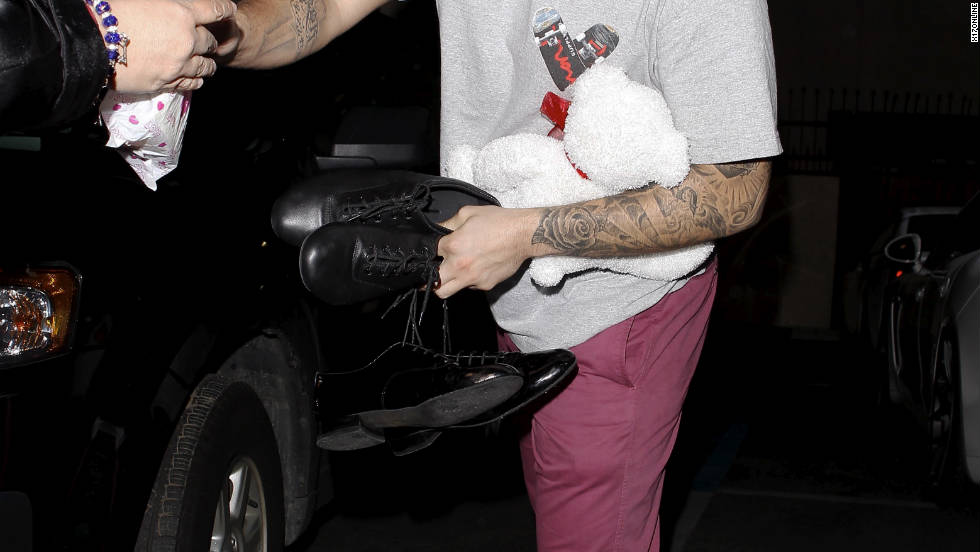 "Rob Kardashian leaves his ""Dancing With the Stars"" rehearsal in Hollywood."