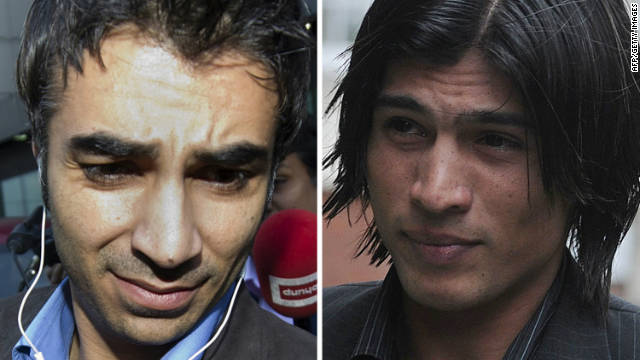 Salman Butt (left) and Mohammad Amir (right) will have to serve their original jail terms after losing their appeal on Wednesday.