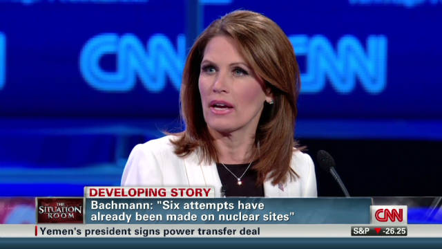 Bachmann's nuke comments raise questions