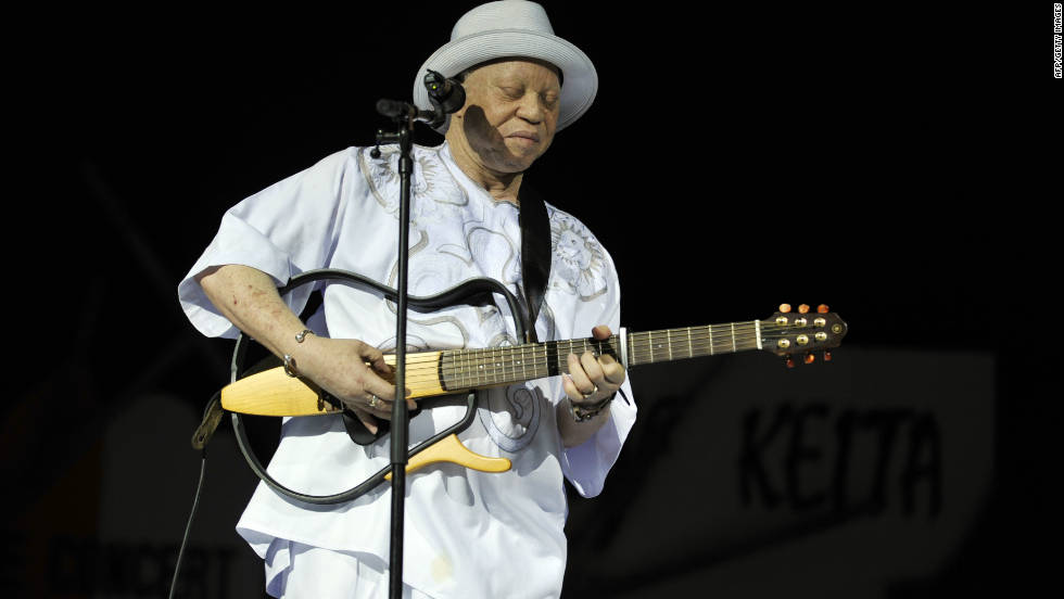 Another popular Malian export, Salif Keita is credited with being one of the founders of the Afro pop genre.  He was also the first African band leader to be nominated for a Grammy award.