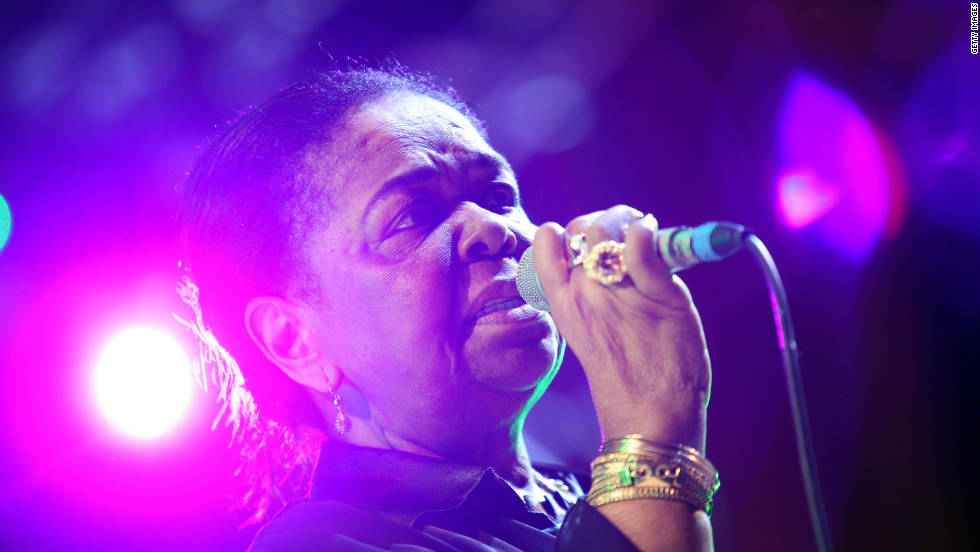 "Grammy award-winning singer, Cesaria Evora, is the most famous musical export from the Cape Verde Islands. She has sold millions of records worldwide and is affectionately know as ""the barefoot diva,"" due to her penchant for appearing on stage without footwear."