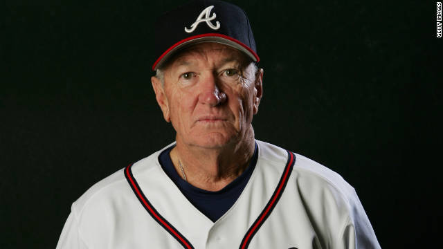 At 71, Bobby Dews still goes to spring training and coaches all the home games for the Atlanta Braves.