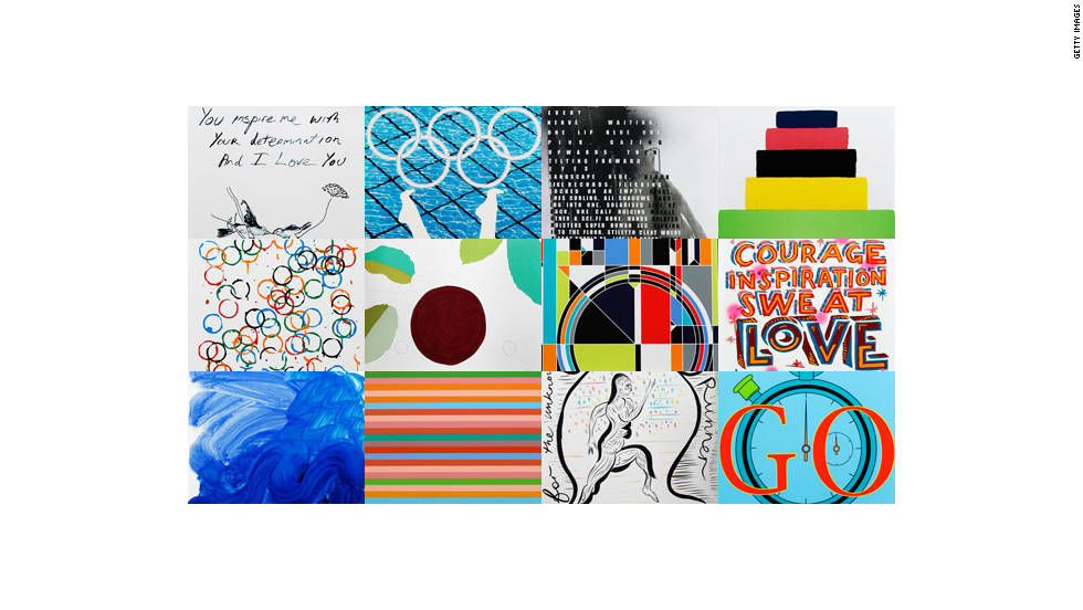 These 12 posters will be used to promote the 2012 London Olympic and Paralympic Games.