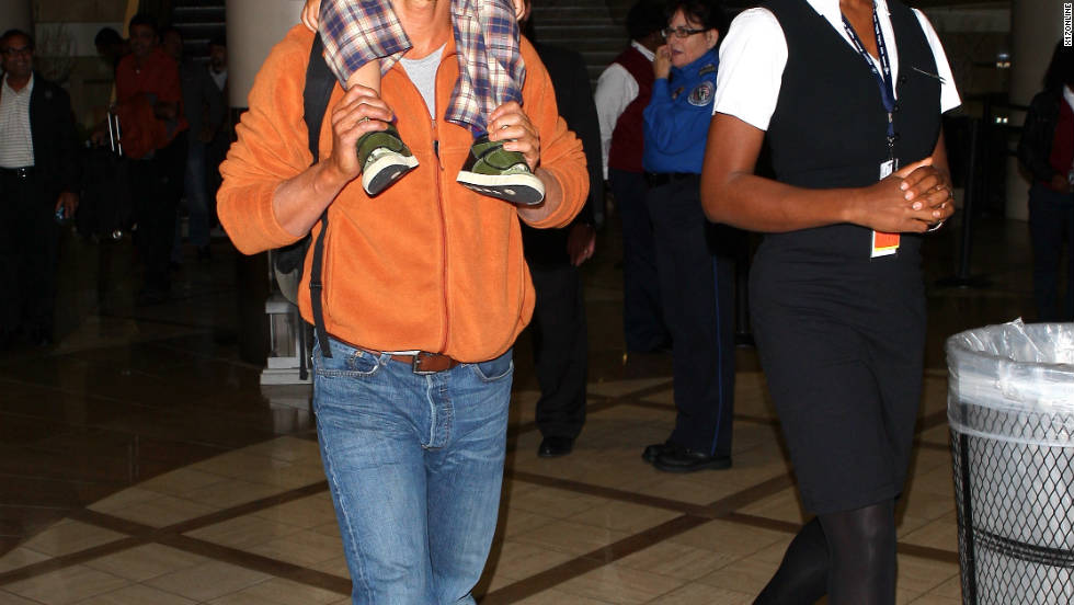 Matthew McConaughey arrives in Los Angeles with his family.