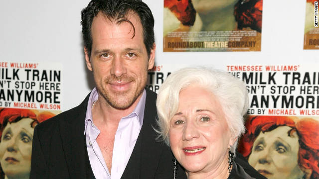 "Darren Pettie, shown here with his Broadway co-star Olympia Dukakis in January, will have a recurring part on ""Pan Am."""