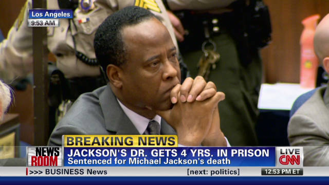 Conrad Murray sentenced to four years