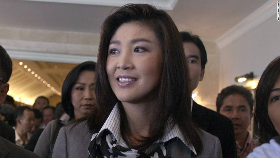 Yingluck Shinawatra became Thailand's first female prime minister in 2011 after her party won a majority of parliamentary seats. She is the younger sister of one of Thailand's most polarizing political figures, former Prime Minister Thaksin Shinawatra.