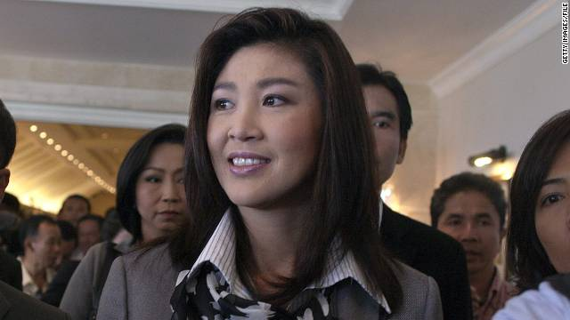 Yingluck Shinawatra was elected the nation's first female prime minister in August.