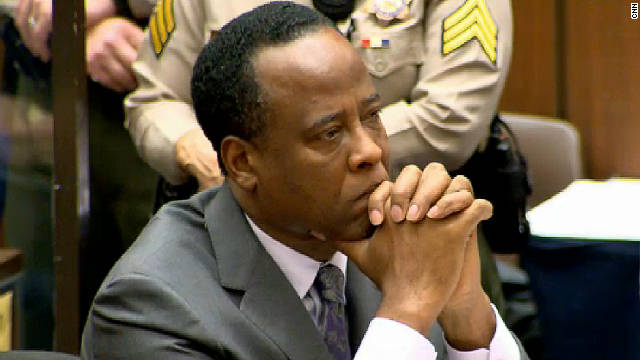 Conrad Murray convicted of the involuntary manslaughter of Michael Jackson complained of poor conditions in Los Angeles county jail.