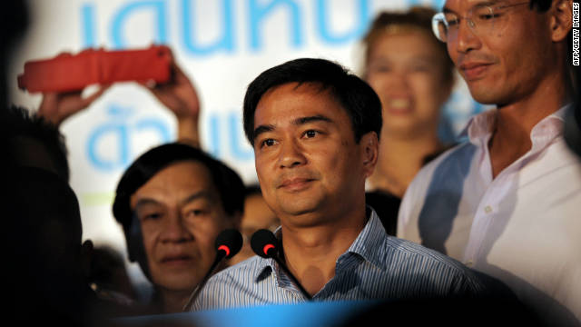 Former Prime Minister Abhisit Vejjajiva was voted out of office in July this year. His role was taken by Yingluck Shinawatra.