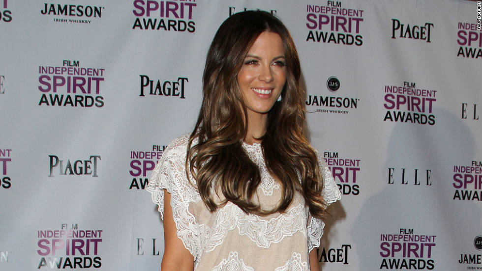 Kate Beckinsale attends an awards press conference in West Hollywood.