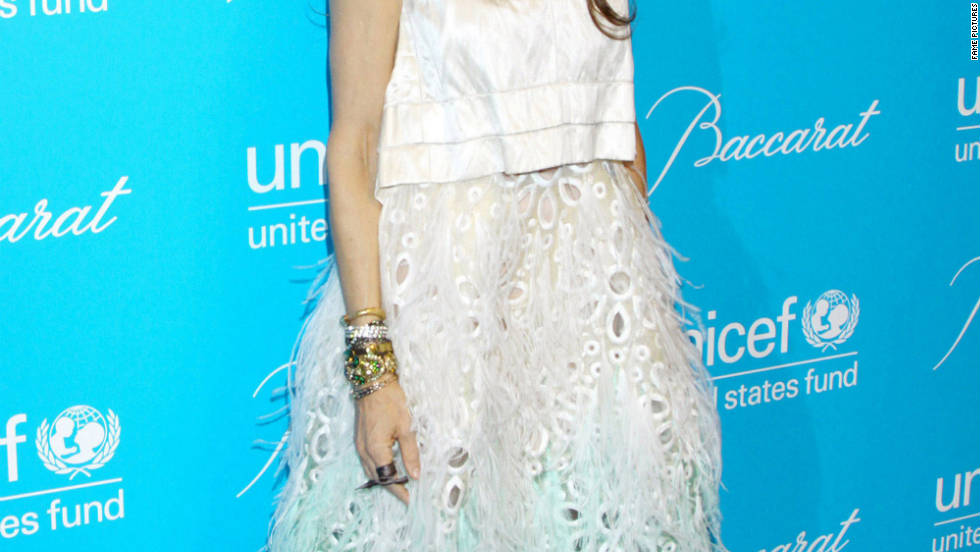 Sarah Jessica Parker attends a UNICEF ball in New York City.
