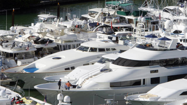Sen. Tom Coburn says it's hard to defend mortgage interest deductions on luxury yachts, such as these lined up in Miami.