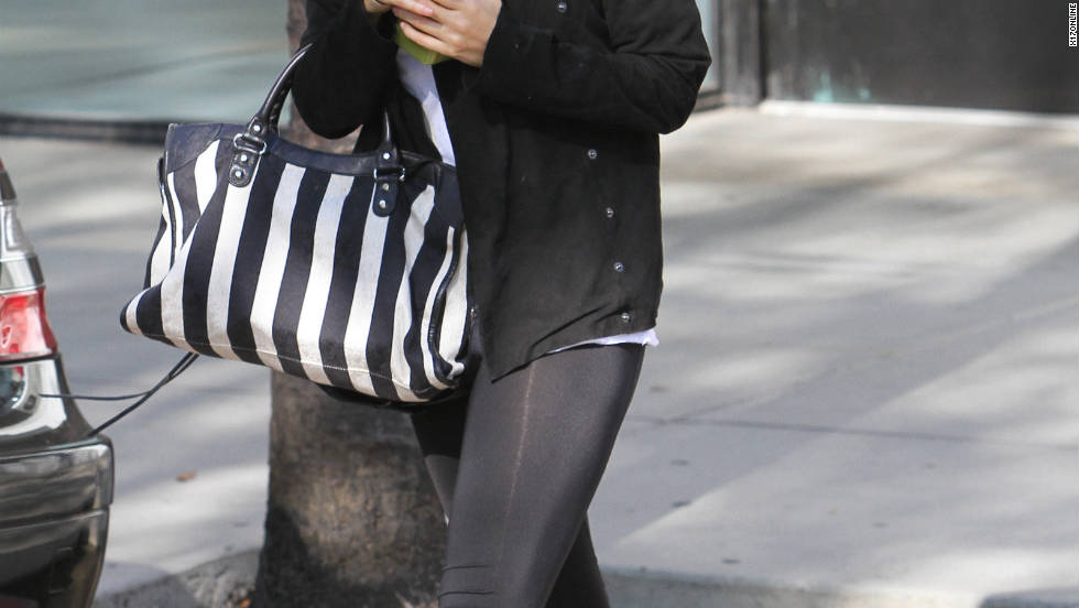 Nicole Richie leaves the gym in Studio City.