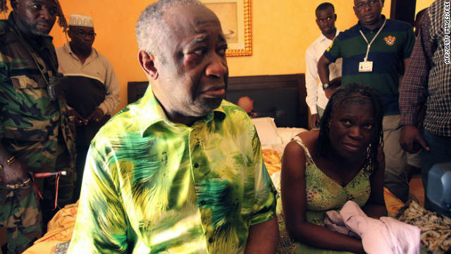 Ivory Coast strongman Laurent Gbagbo and his wife Simone pictured in 2011.