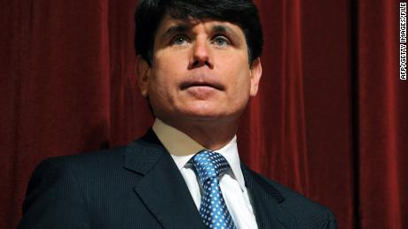 This February 15, 2008 file photo shows then Illinois Governor Rod Blagojevich at a press conference at Northern Illinois University in DeKalb, Illinois. Blagojevich was convicted on June 27, 2011 of 17 of the 20 charges against him, including all 11 charges related to his attempt to sell or trade President Barack Obama's vacated Senate seat. The jury found him not guilty of soliciting bribes in the alleged shakedown of a road-building executive. The panel deadlocked on a charge of attempted extortion on that same case.