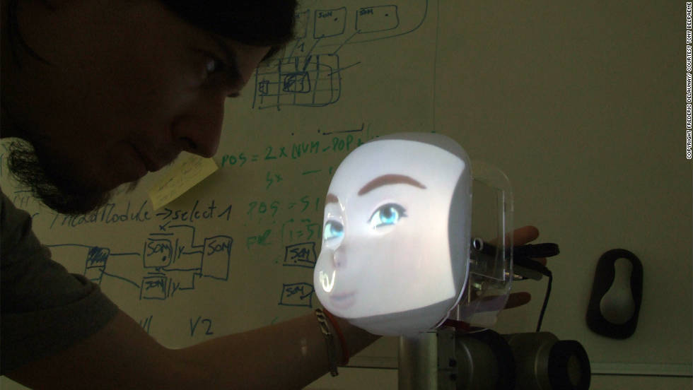 "The ""Concept"" project is the work of the University of Plymouth, in the UK. Computer-generated responses are projected onto its ""face,"" which contains cameras and microphones."