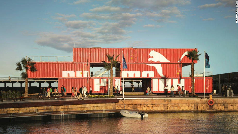 Many established brands like PUMA have discovered the popular appeal of using shipping containers instead of a more traditional retail space.