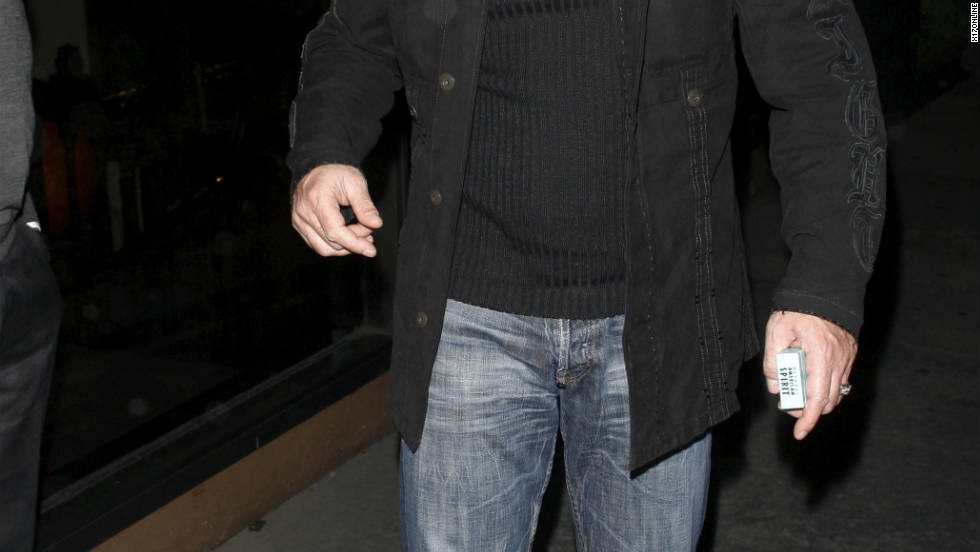 Antonio Banderas leaves a restaurant in West Hollywood.