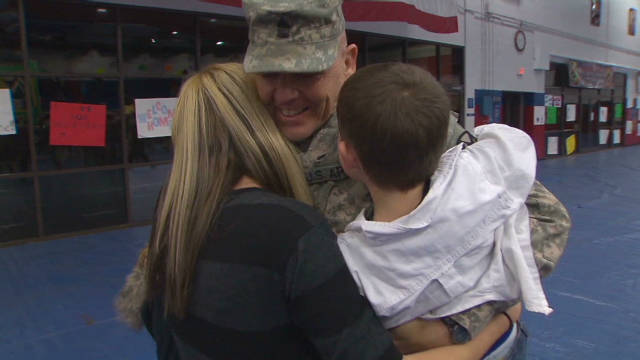 U.S. troops see families at Fort Hood