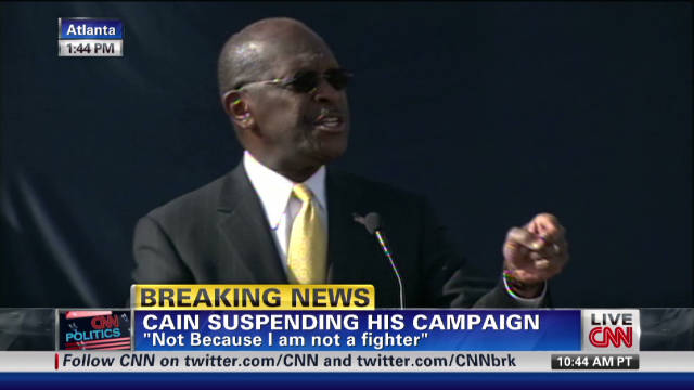 Cain suspends presidential campaign