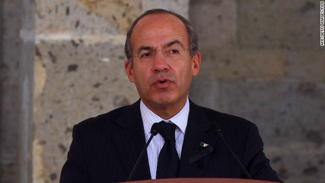 Mexican President Felipe Calderon has been president since December 2006.