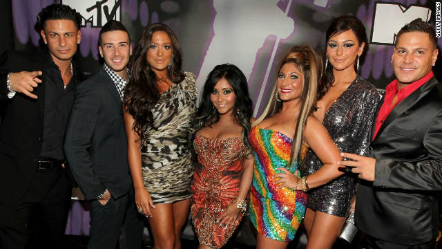 "The cast of ""Jersey Shore"" attends the 2011 MTV Music Video Awards in Los Angeles."