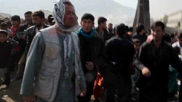Video shows moment of Kabul blast
