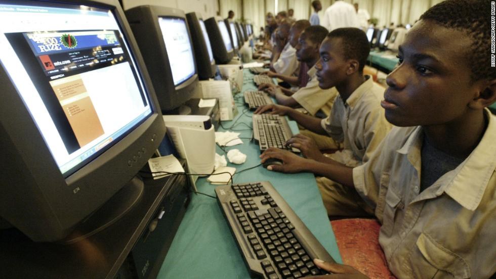 The top five countries for mobile subscribers are Nigeria, Egypt, South Africa, Ethiopia and the Democratic Republic of Congo. They account for about 44% of total subscribers, while the bottom 30 countries only make up 10%.<br /><br />Pictured: Young Ivorians attending an Internet Festival in Abidjan, Ivory Coast.