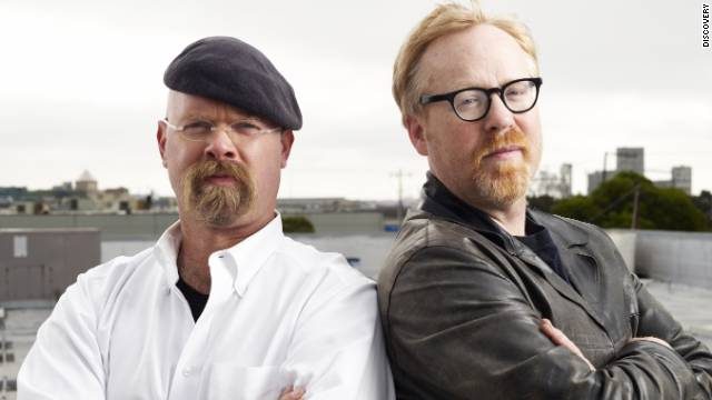 "Jamie Hyneman, left, and Adam Savage are the core ""Mythbusters."""