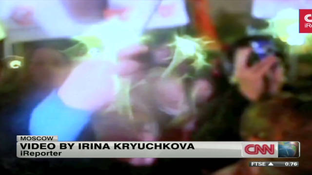 iReporter joins protests in Moscow