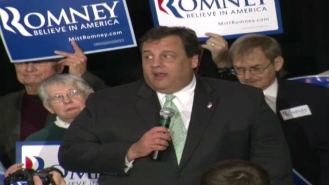 Gov. Chris Christie responds to hecklers