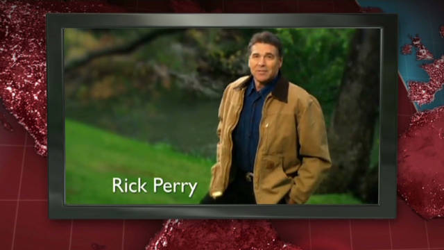 "Rick Perry's new Iowa ad takes aim at Obama and the repeal of the ""don't ask, don't tell"" law."