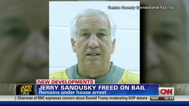 Jerry Sandusky free on bail