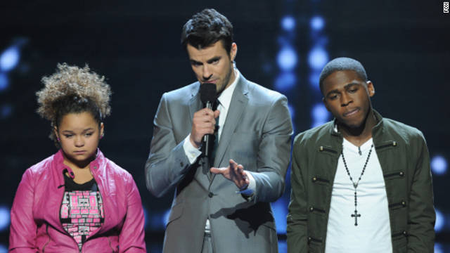 Rachel Crow and Marcus Canty wait to find out if they will continue on in the competition.