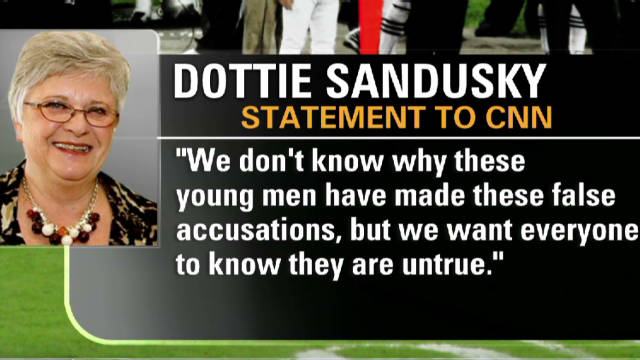 Sandusky's wife responds to allegations